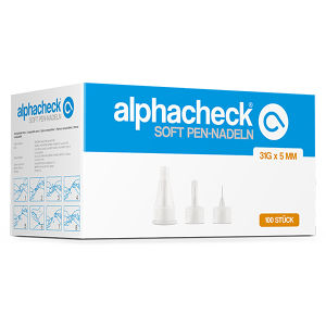 alphacheck soft Pen-Nadeln 31G x 5mm